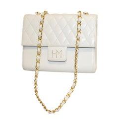 Vintage White Leather Hane Morir Bag