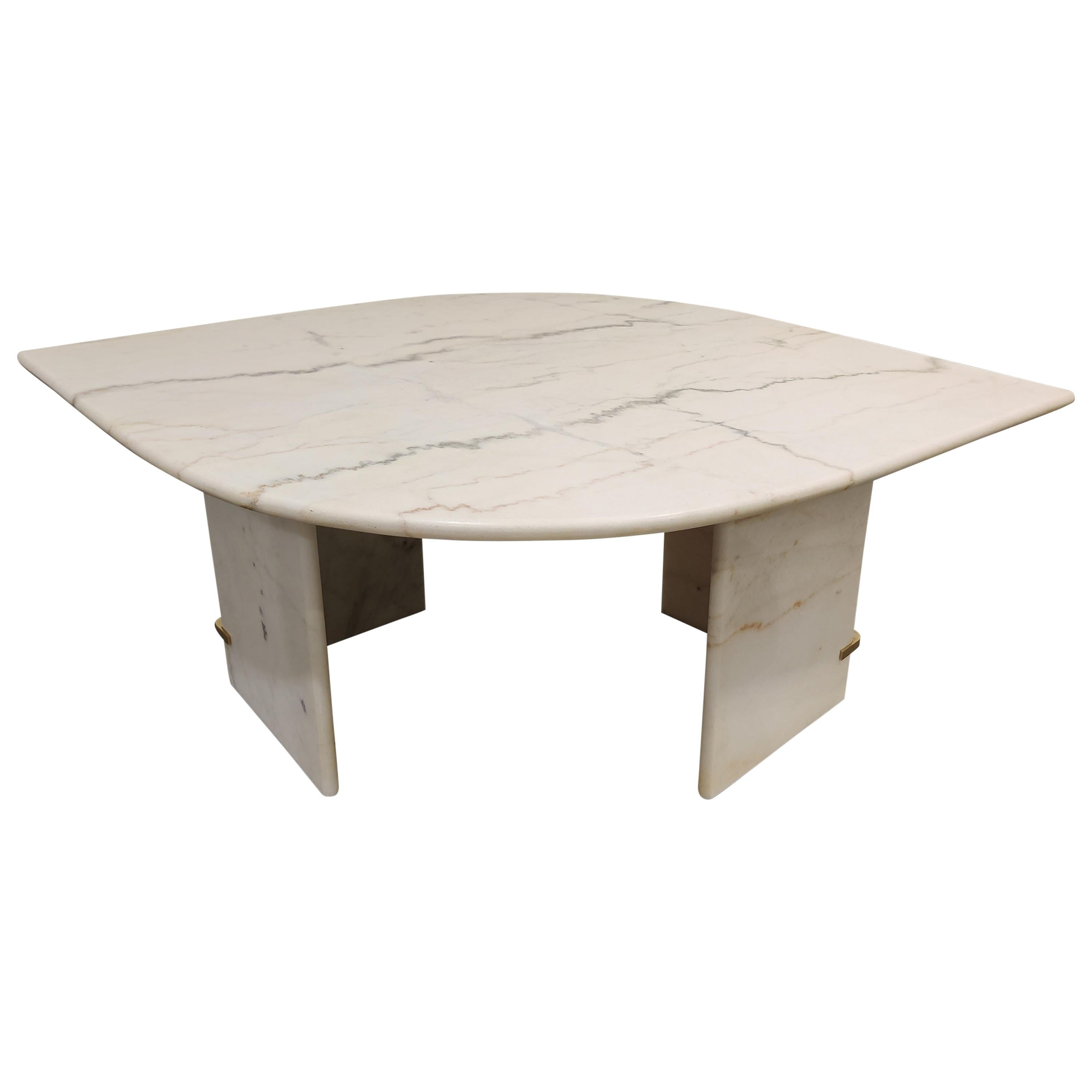 Vintage White Marble Coffee Table 1970s For Sale At 1stdibs