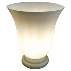 Vintage White Opaline Glass Lamp, France, 1950