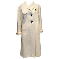 Vintage White Oversize Coat