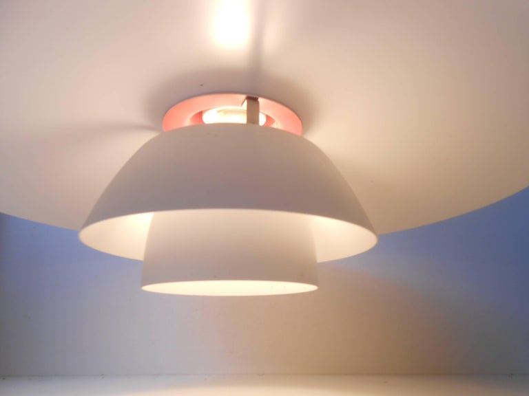 Vintage White PH-4/3 Pendant Lamp by Poul Henningsen, Louis Poulsen, circa 1970 In Good Condition For Sale In Esbjerg, DK
