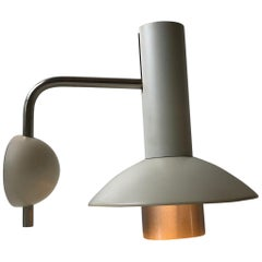 Vintage White Wall Lamp from Louis Poulsen, 1970s
