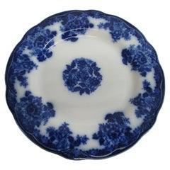 Vintage White with Blue Flowers and Center Bouquet Decorative Porcelain Plate