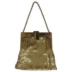 Vintage Whiting & Davis Gold Metal Mesh Evening Bag