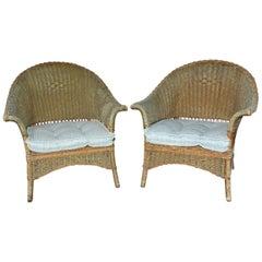 Vintage Wicker Armchairs
