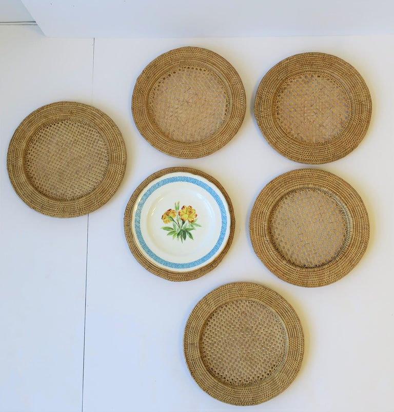 Wicker Cane Plate Chargers In Good Condition In New York, NY