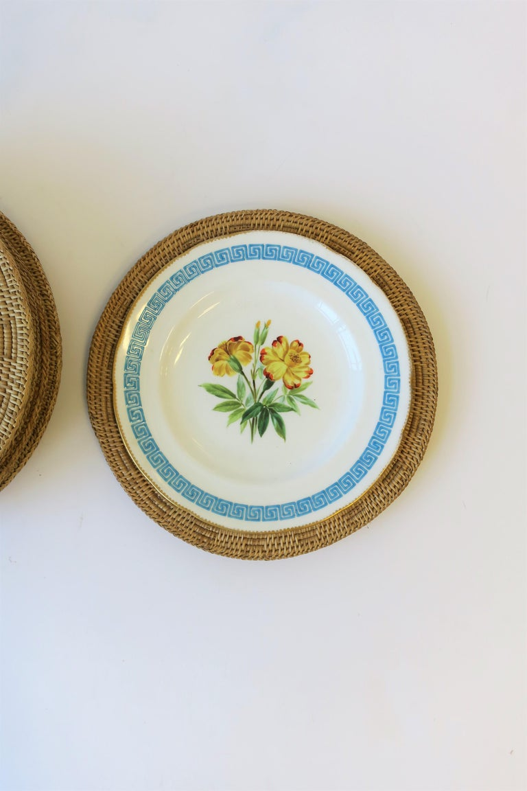 20th Century Wicker Cane Plate Chargers
