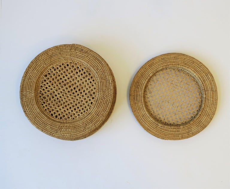 Wicker Cane Plate Chargers 1