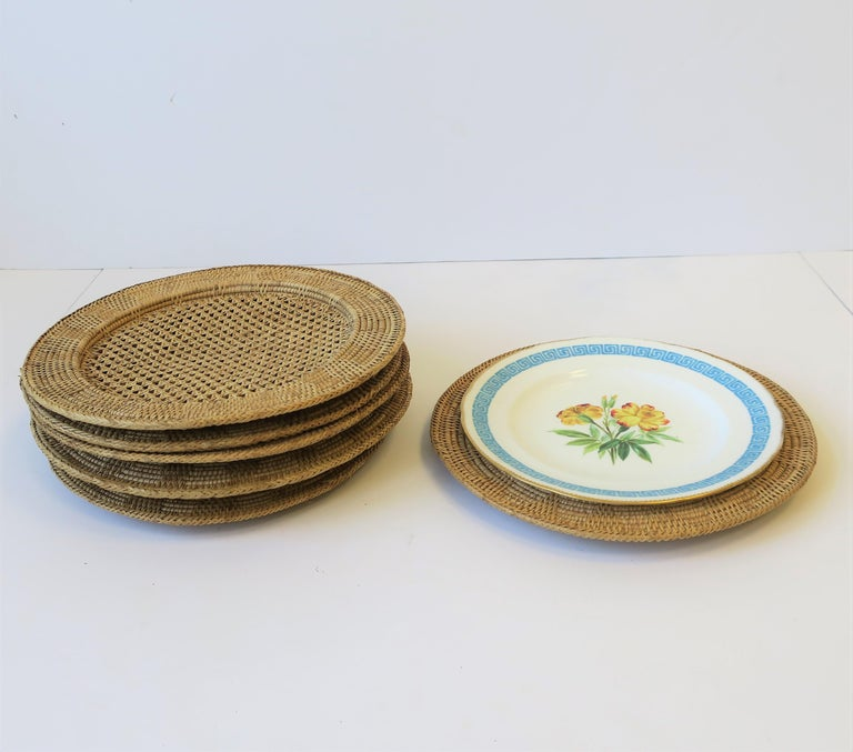 Wicker Cane Plate Chargers 2
