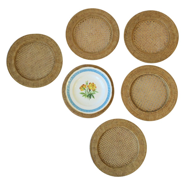 Wicker Cane Plate Chargers