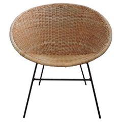 Vintage Wicker Chair, 1970s