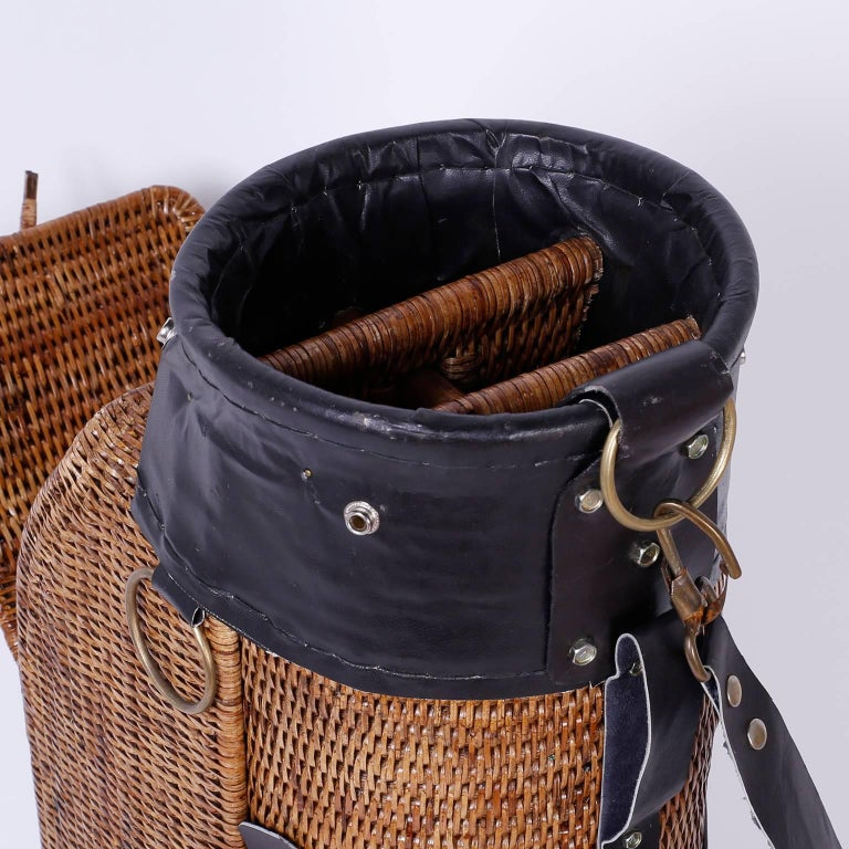 Vintage Wicker Golf Bag For Sale 1