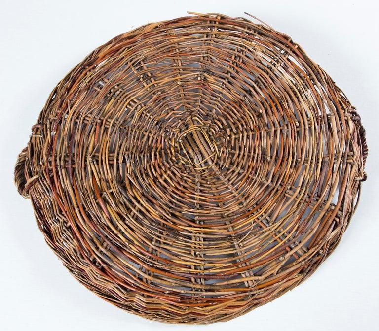 Vintage Wicker Grape Basket, France, circa 1950 For Sale 3