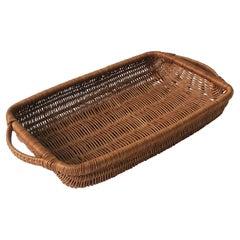 Vintage Wicker Serving or Gathering Basket