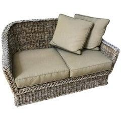 Vintage Wicker Sofa Loveseat