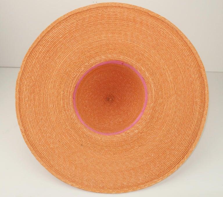 Vintage Wide Brim Straw Hat With Gold Coins 8