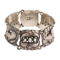 Vintage Wide Georg Jensen Bird Silver Bracelet