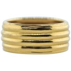 Vintage Wide Gold Band