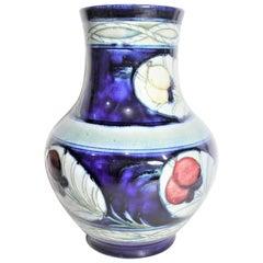 Vintage William Moorcroft 'Banded Wisteria' Patterned Art Pottery Vase