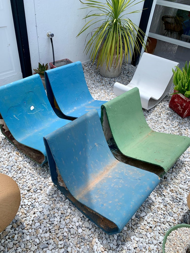 Vintage Willy Guhl Loop Chairs For Sale 4