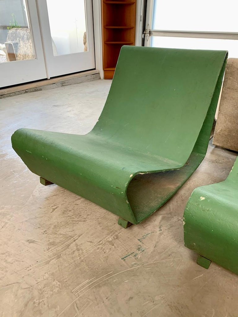 Vintage Willy Guhl Loop Chairs In Good Condition For Sale In Los Angeles, CA