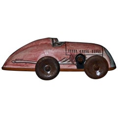 Vintage Wind Up Small Car Toy, Made in Germany, 1950s
