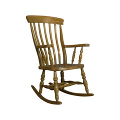 Vintage Windsor Rocking Chair, English, Beech, Armchair, Late 20th Century