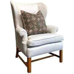 Vintage Wing Chair with New Upholstery