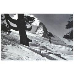 Vintage Winter Landscape, Matterhorn Photograph