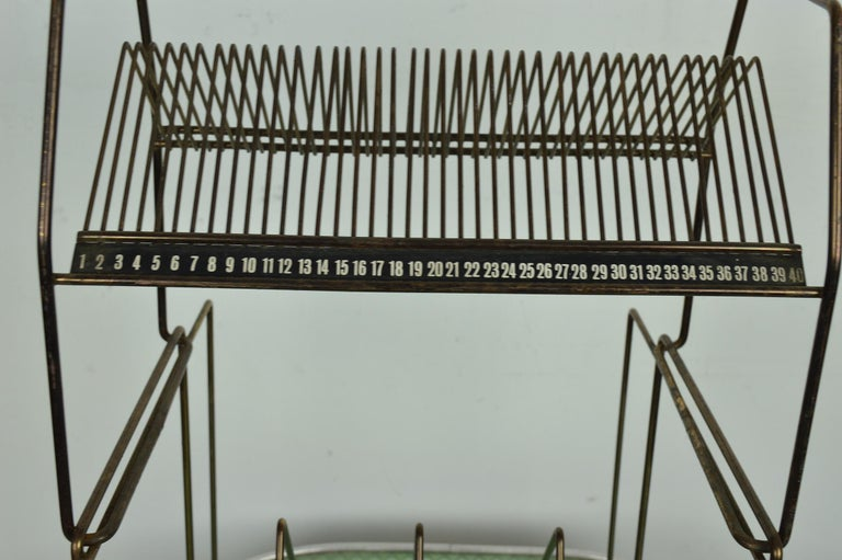 Mid-20th Century Vintage Wire Work Vinyl Record Rack, 1960s For Sale