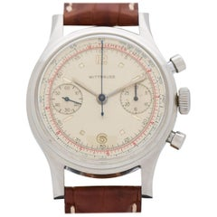 Vintage Wittnauer Chronograph 2-Register Stainless Steel Watch, 1960s