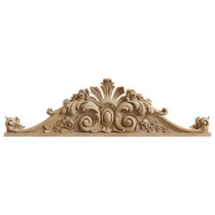 Vintage Wood Applique for Fireplace, Architecture Furniture Onlay