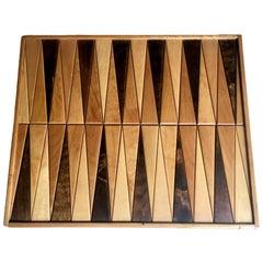 Vintage Wood Backgammon Board