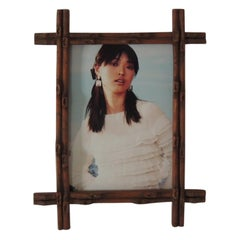 "Vintage Wood ""Faux Bamboo"" Picture Frame"
