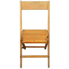 Vintage Wood Folding Chairs; 144 available
