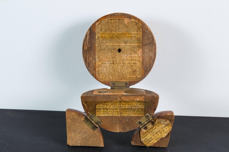 20th Century Vintage Wood Geometry Surface and Volume Teaching Sphere For Sale