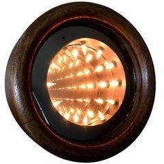 Vintage Wood Infinity Mirror