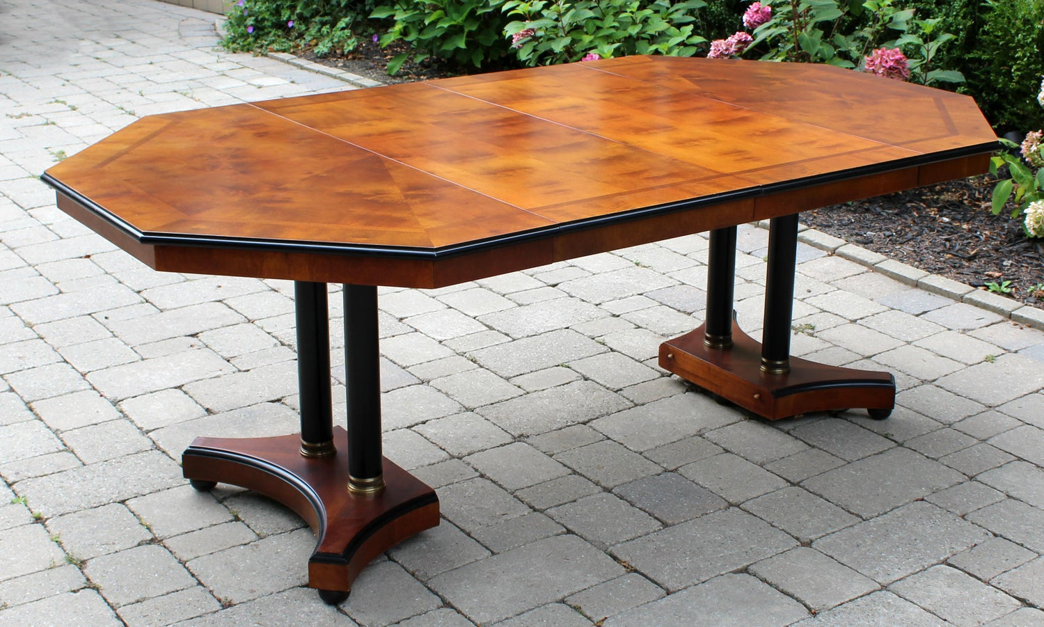 Vintage Wood Octagon Expandable Dining Table With 2 Leaves Century Furniture At 1stdibs
