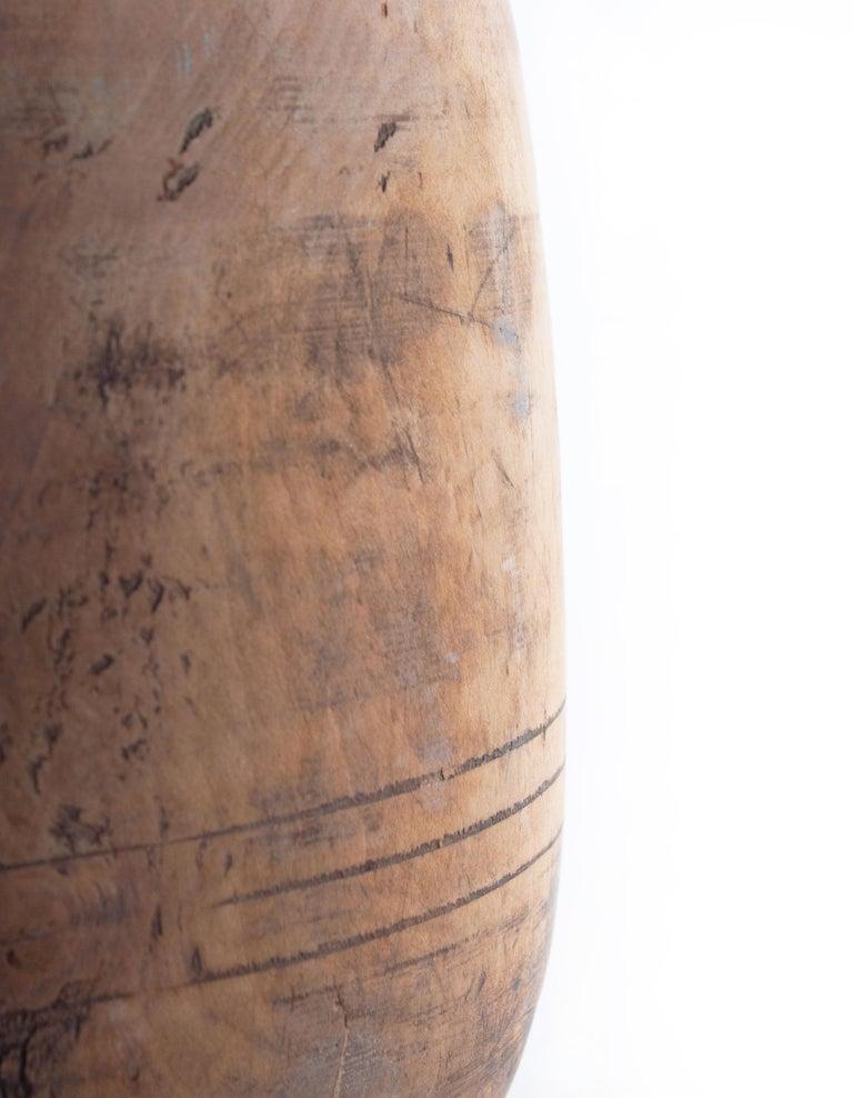 Indonesian Vintage Wood Storage Jar For Sale