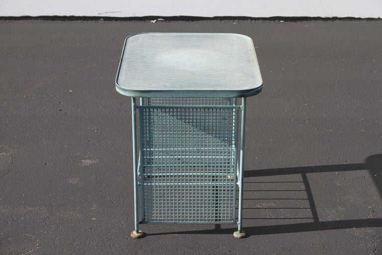 Vintage Woodard Patio Set with Gliders in the Style of Josef Hoffmann For Sale 2