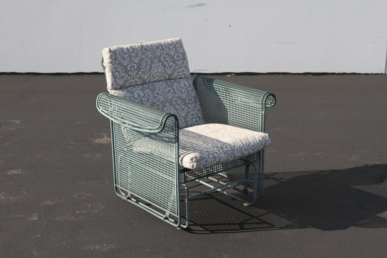Vintage Woodard Patio Set with Gliders in the Style of Josef Hoffmann For Sale 9