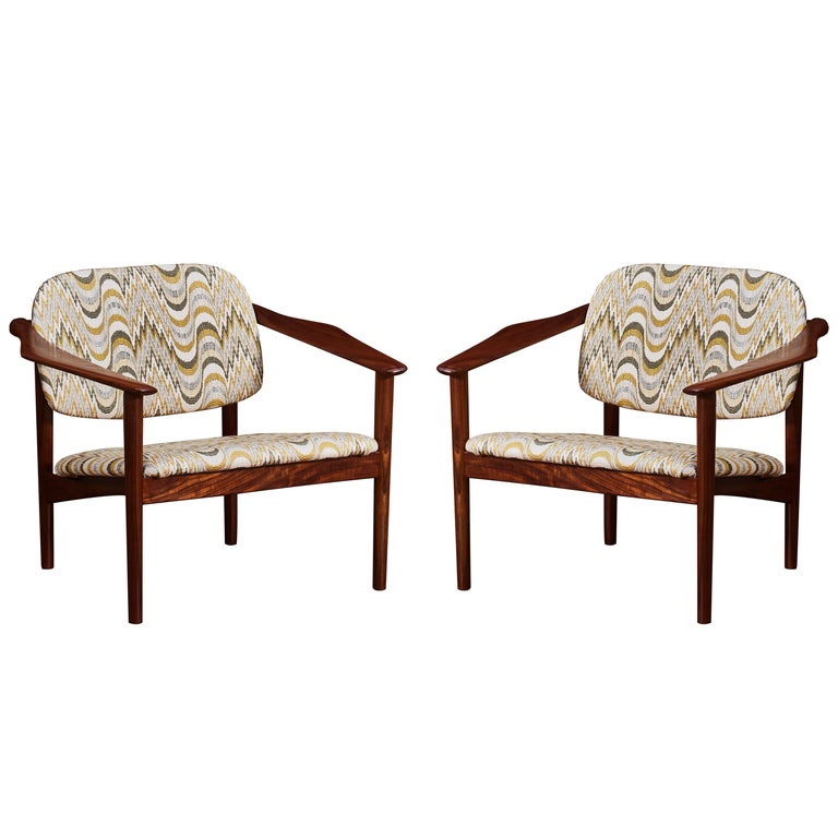 Vintage Wooden Armchairs, 1960s For Sale