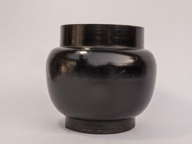 Vintage Wooden Beer Pot from Bhutan, Mid-20th Century For Sale 2