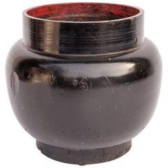 Vintage Wooden Beer Pot from Bhutan, Mid-20th Century