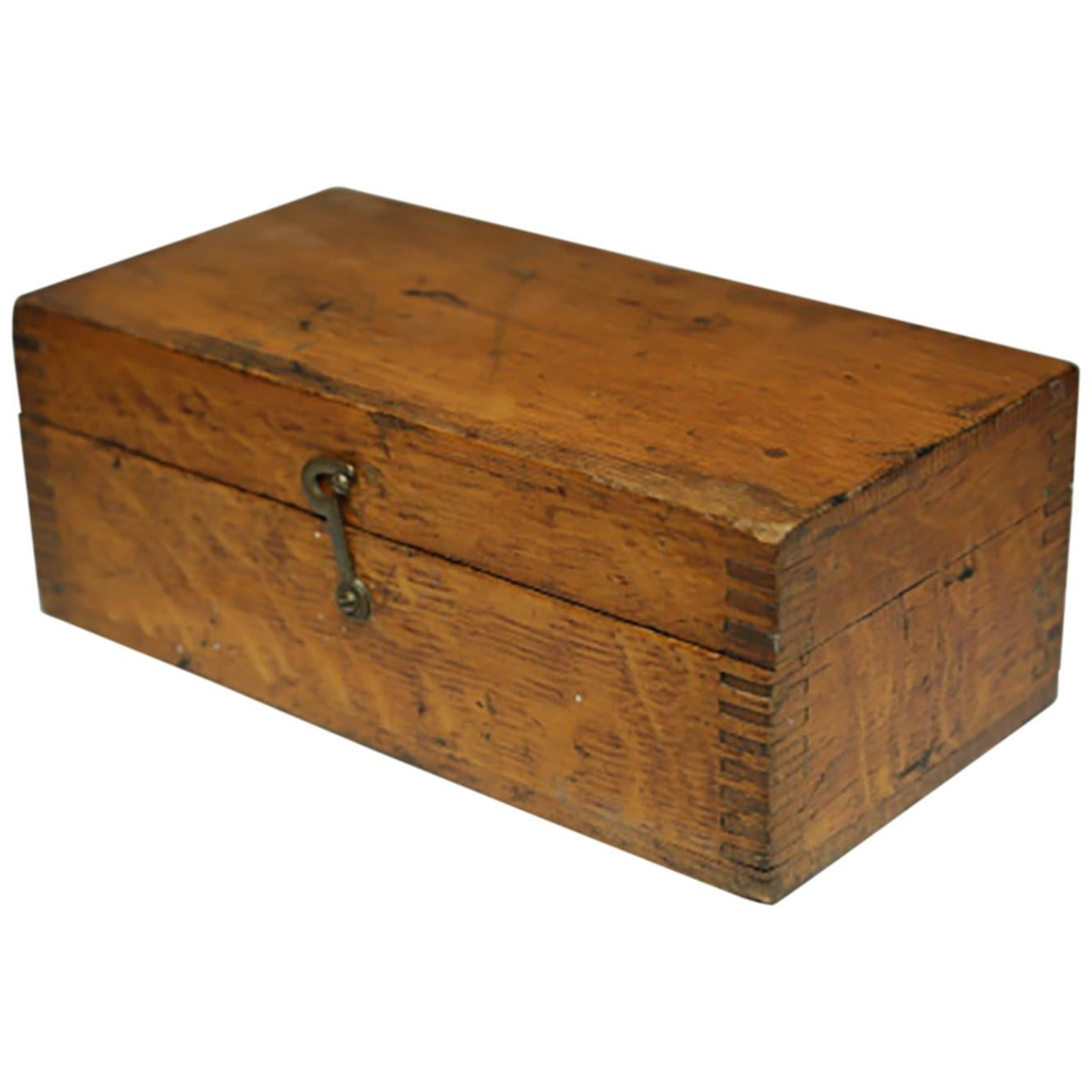 Reproduction Boxes/chests Vintage Wooden Box 1920s