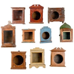 Vintage Wooden Clock Boxes, 20th Century