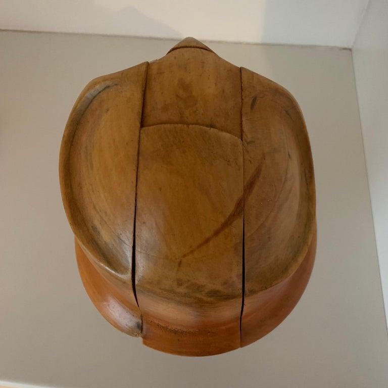 Vintage Wooden Hat Form For Sale 3