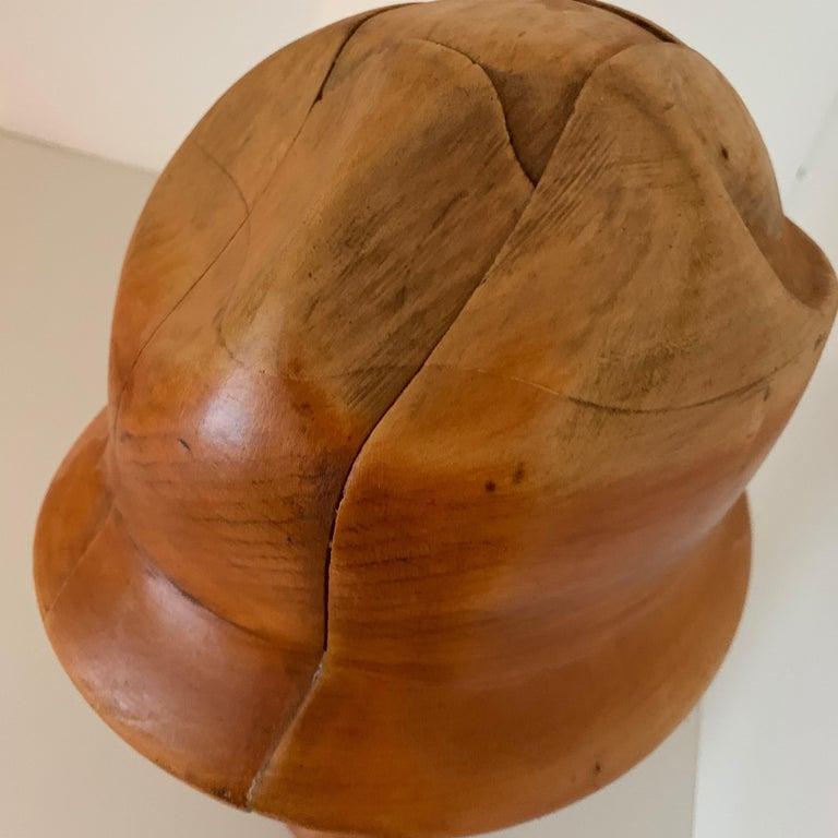 Vintage Wooden Hat Form For Sale 4
