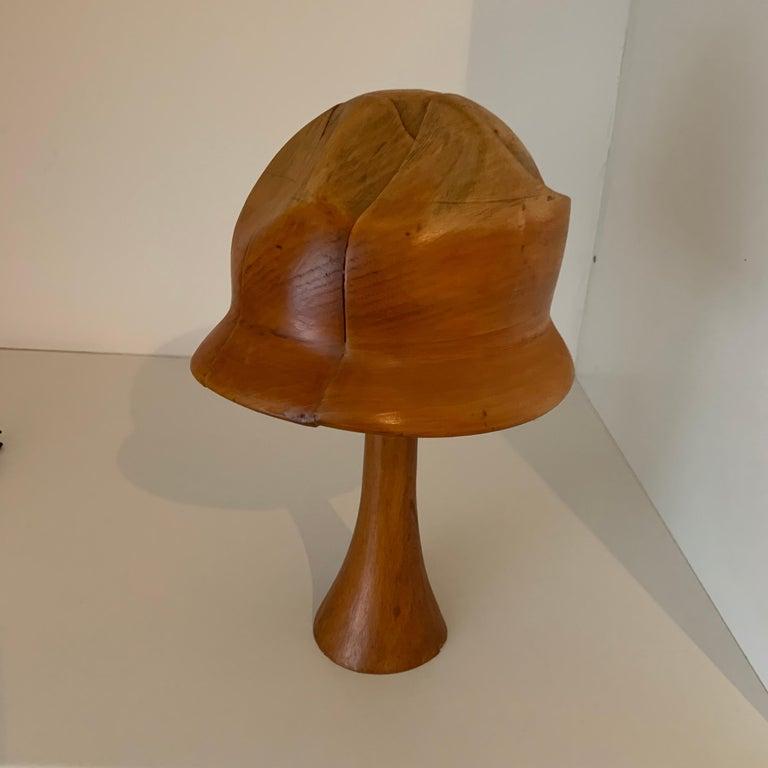 Vintage Wooden Hat Form For Sale 7