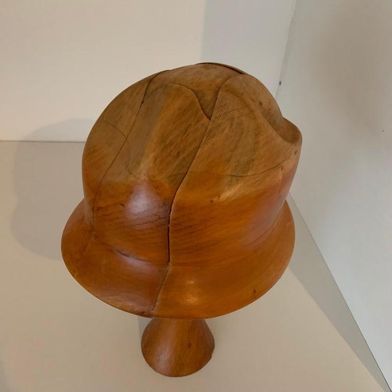 Vintage Wooden Hat Form For Sale 1